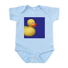 Yellow Rubber Duck on Blue Infant Bodysuit
