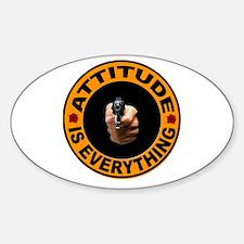 ATTITUDE Sticker (Oval)
