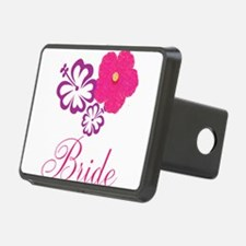 Pink and Purple Bride Hibiscus Flower Hitch Cover