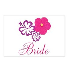 Pink and Purple Bride Hibiscus Flower Postcards (P