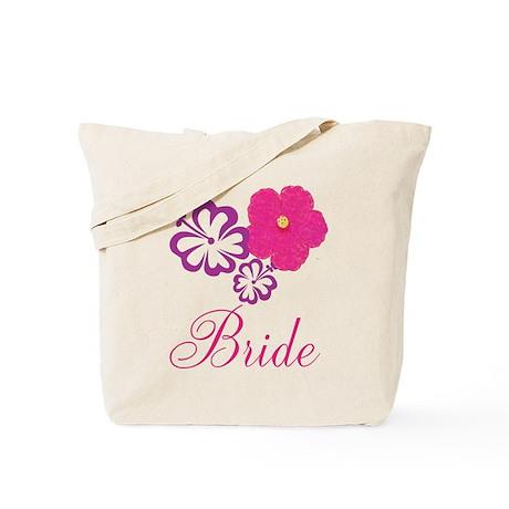 Pink and Purple Bride Hibiscus Flower Tote Bag
