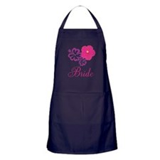 Pink and Purple Bride Hibiscus Flower Apron (dark)