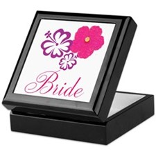 Pink and Purple Bride Hibiscus Flower Keepsake Box