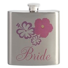 Pink and Purple Bride Hibiscus Flower Flask