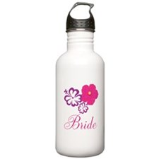 Pink and Purple Bride Hibiscus Flower Water Bottle