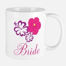 Pink and Purple Bride Hibiscus Flower Mug