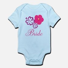 Pink and Purple Bride Hibiscus Flower Infant Bodys