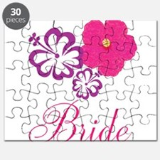 Pink and Purple Bride Hibiscus Flower Puzzle