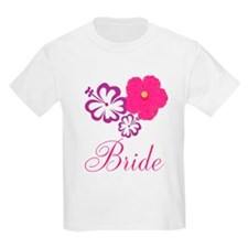 Pink and Purple Bride Hibiscus Flower T-Shirt