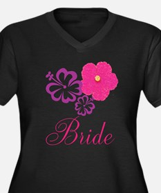Pink and Purple Bride Hibiscus Flower Women's Plus