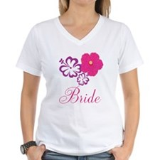 Pink and Purple Bride Hibiscus Flower Shirt