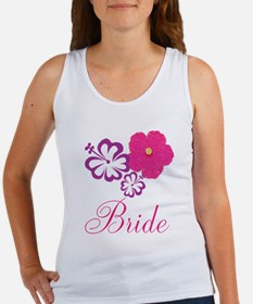 Pink and Purple Bride Hibiscus Flower Women's Tank