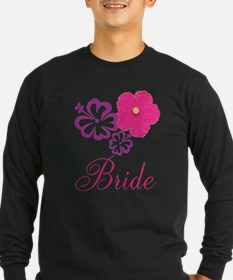 Pink and Purple Bride Hibiscus Flower T