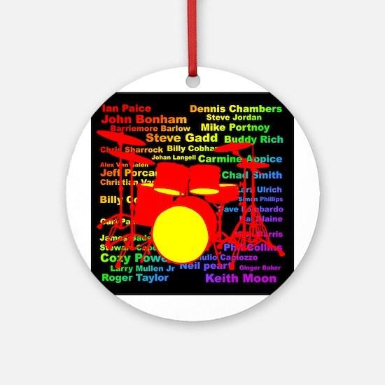 drum and drummer Ornament (Round)