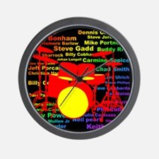 drum and drummer Wall Clock