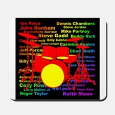 drum and drummer Mousepad