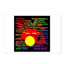 drum and drummer Postcards (Package of 8)
