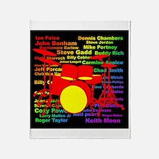 drum and drummer Throw Blanket