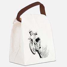 Dirtbike Wheeling in Mud Canvas Lunch Bag