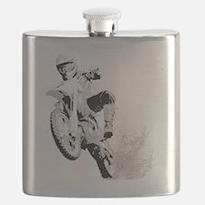 Dirtbike Wheeling in Mud Flask