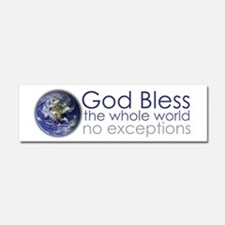 God Bless the Whole World Car Magnet 10 x 3