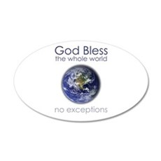 God Bless the Whole World Wall Decal