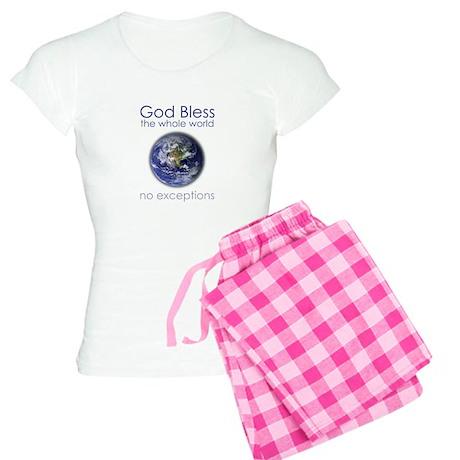 God Bless the Whole World Women's Light Pajamas