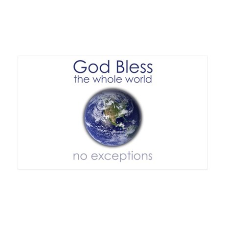 God Bless the Whole World 35x21 Wall Decal