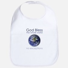 God Bless the Whole World Bib
