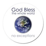 God Round Car Magnets
