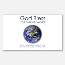 God Bless the Whole World Decal
