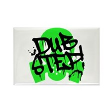 Dubstep Green Gas Mask Rectangle Magnet