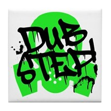 Dubstep Green Gas Mask Tile Coaster