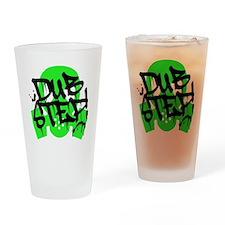 Dubstep Green Gas Mask Drinking Glass