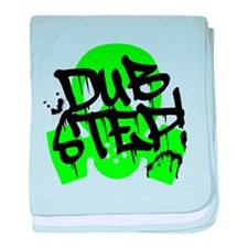 Dubstep Green Gas Mask baby blanket