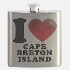 I Heart Cape Breton Island Flask