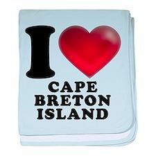 I Heart Cape Breton Island baby blanket