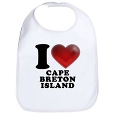 I Heart Cape Breton Island Bib