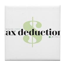 Tax Deduction Tile Coaster
