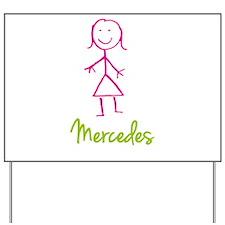 Mercedes-cute-stick-girl.png Yard Sign
