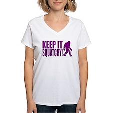 Purple KEEP IT SQUATCHY! Shirt