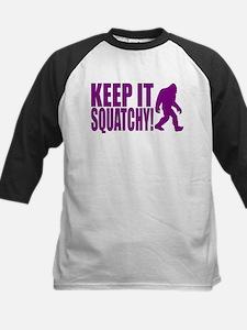 Purple KEEP IT SQUATCHY! Kids Baseball Jersey