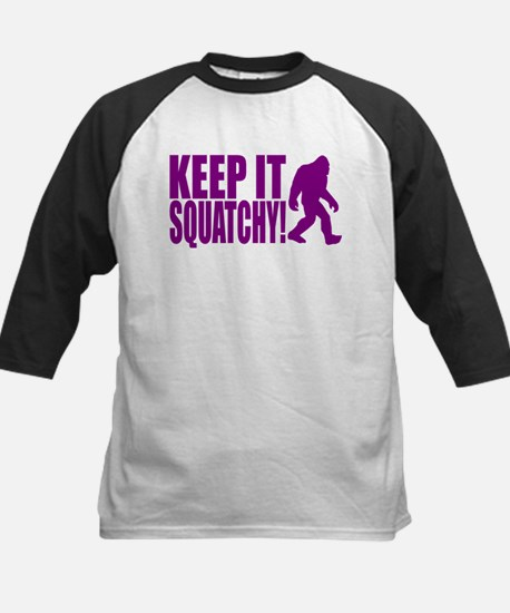 Purple KEEP IT SQUATCHY! Kids Baseball Jersey