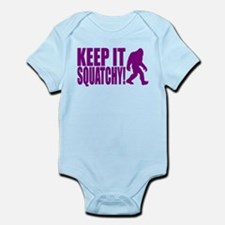 Purple KEEP IT SQUATCHY! Infant Bodysuit