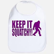 Purple KEEP IT SQUATCHY! Bib