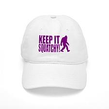 Purple KEEP IT SQUATCHY! Baseball Cap