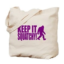 Purple KEEP IT SQUATCHY! Tote Bag