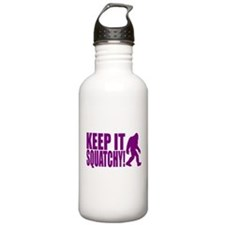 Purple KEEP IT SQUATCHY! Water Bottle