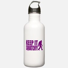 Purple KEEP IT SQUATCHY! Water Bottle
