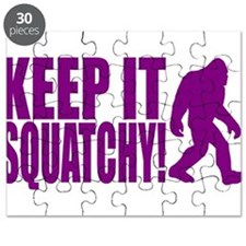 Purple KEEP IT SQUATCHY! Puzzle